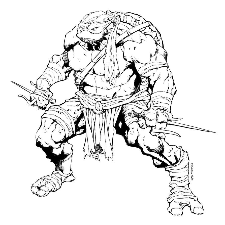 Line Art Ninja Turtles : Raphael ninja turtles by mikebowden nicholasgentile on