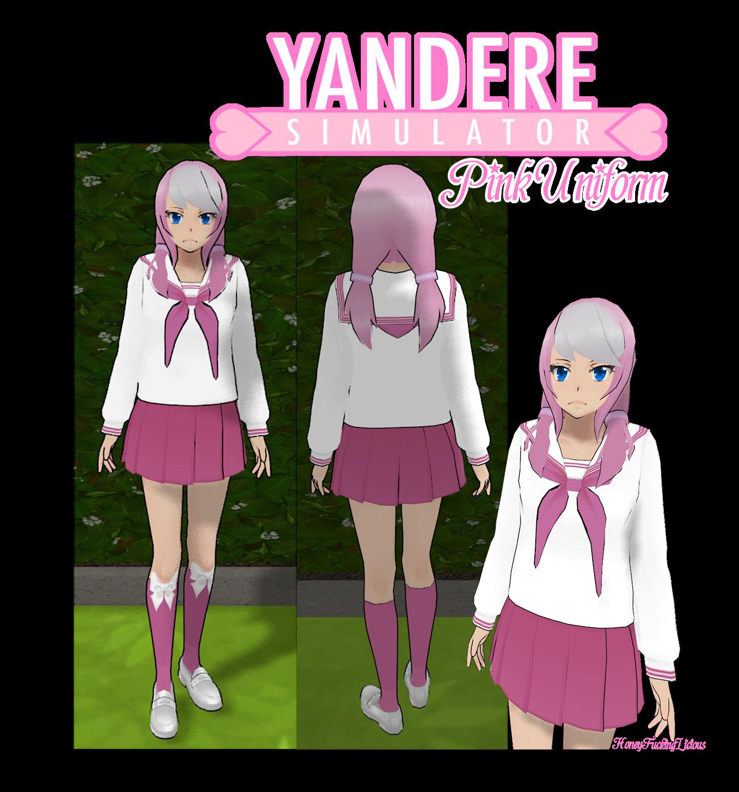 Yandere Simulator Skin: Pink Uniform by HoneyFuckingLicious