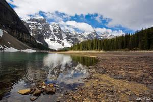 Moraine Lake In Spring by Dani-Lefrancois