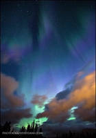 Canmore Auroras by Dani-Lefrancois