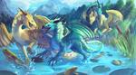 A Happy Dragon Family