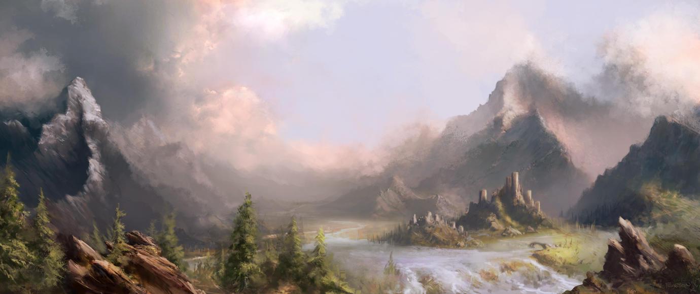 Mountain Valley by joelpear