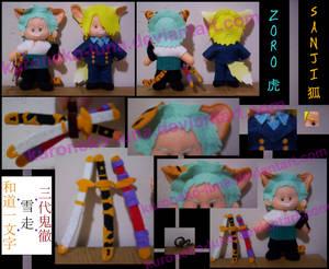 Zoro + Sanji :: tora + kitsune