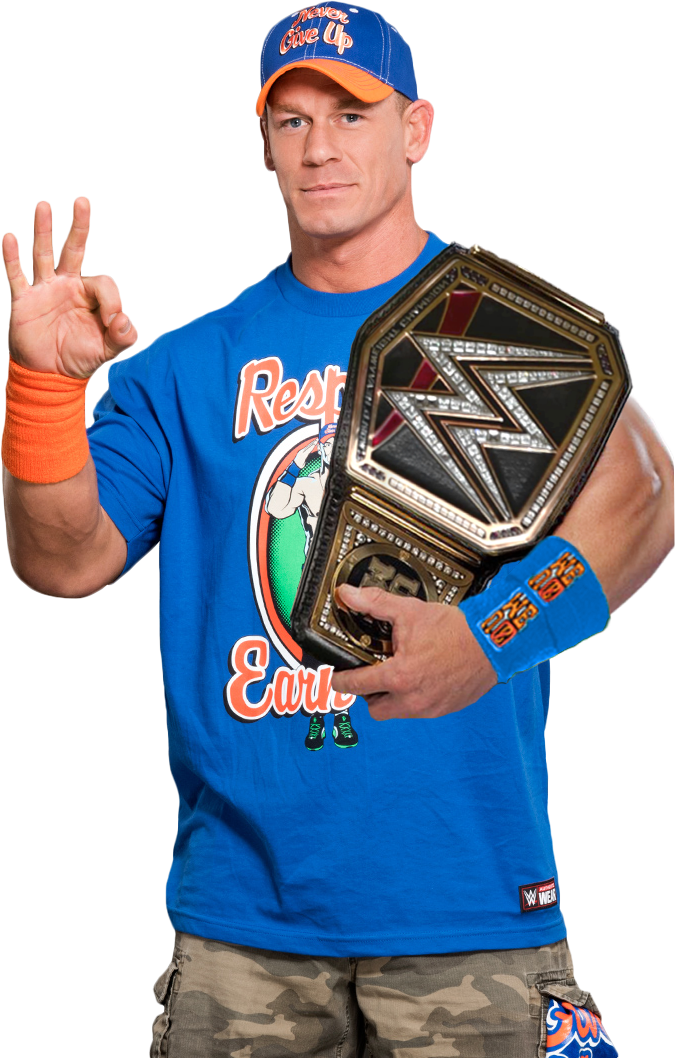 John Cena - WWE World Champion render [BLS] by BadLuckShinska on DeviantArt