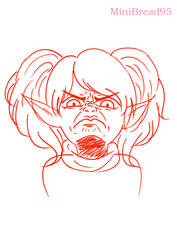 Poppy enraged face