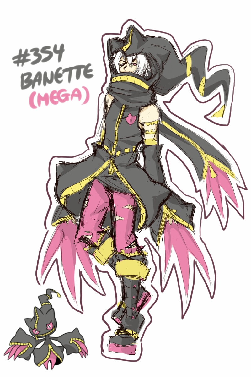 Mega Banette Gijinka [NEW OC] by Artemette on DeviantArt