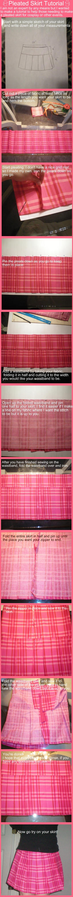Pleated School Skirt Tutorial by stevoluvmunchkin