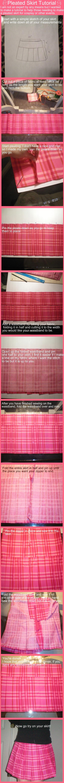 Pleated School Skirt Tutorial