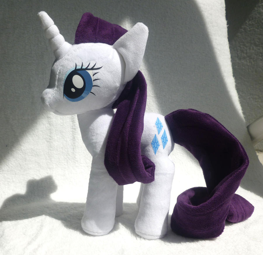My Little Pony Rarity Plush by stevoluvmunchkin