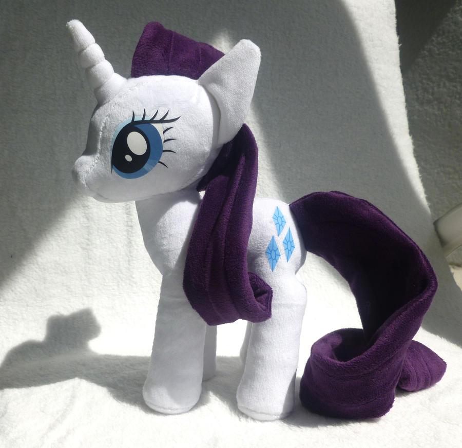 My Little Pony Rarity Plush by stevoluvmunchkin