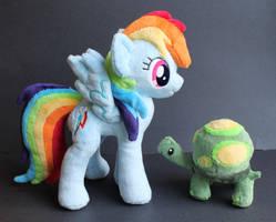 Rainbow Dash and Tank by OhThePlushabilities