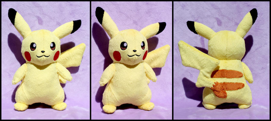 Pikachu Plush by OhThePlushabilities