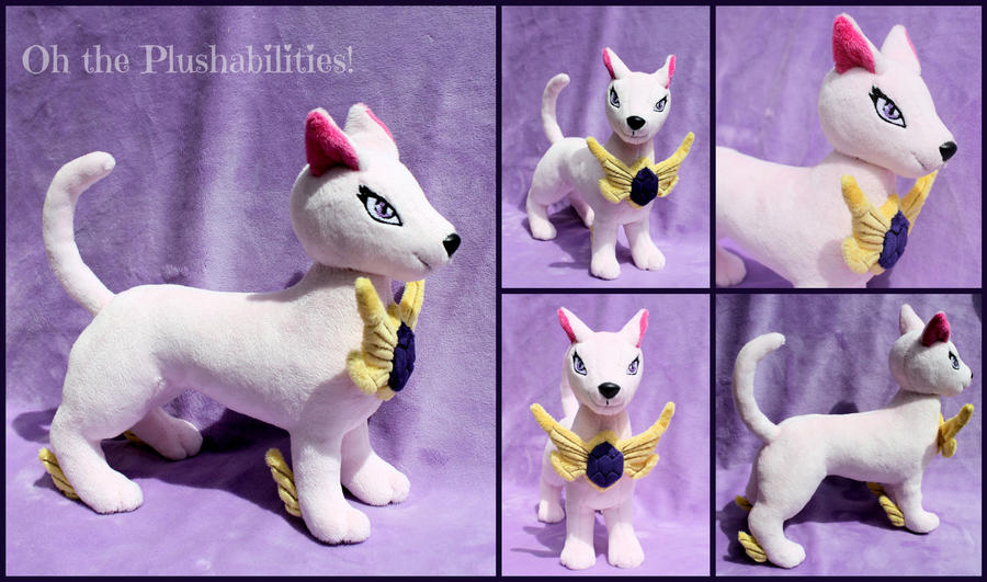 Crystal Beast Amethyst Cat Plush by OhThePlushabilities