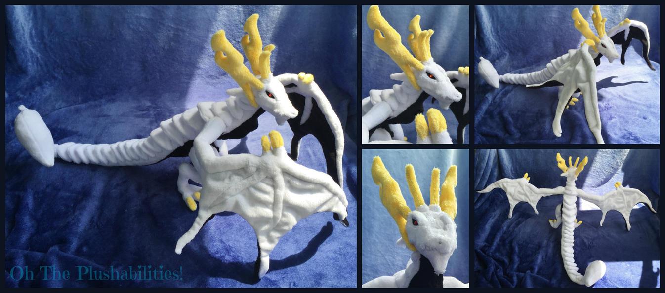 Mikhail Dragon Plush by OhThePlushabilities