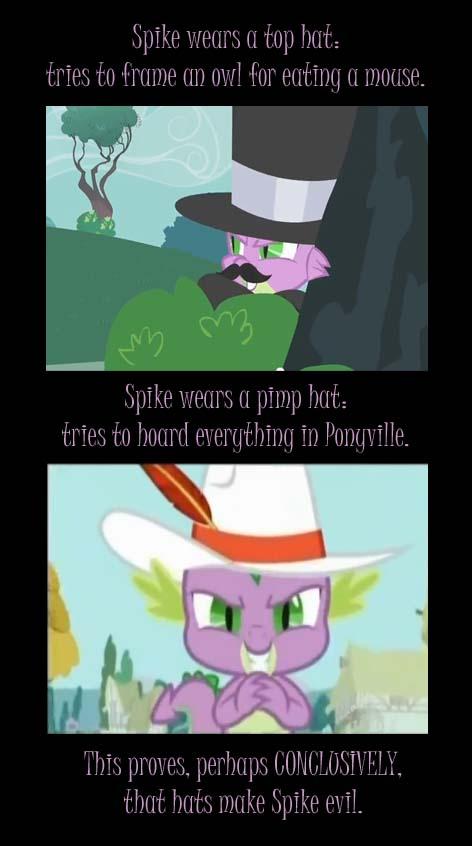Hats Make Spike Evil by Babileilei