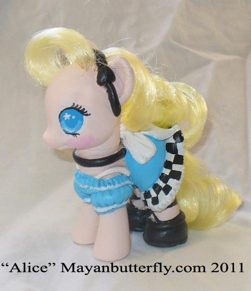 Alice in Wonderland G4 My Little Pony by mayanbutterfly