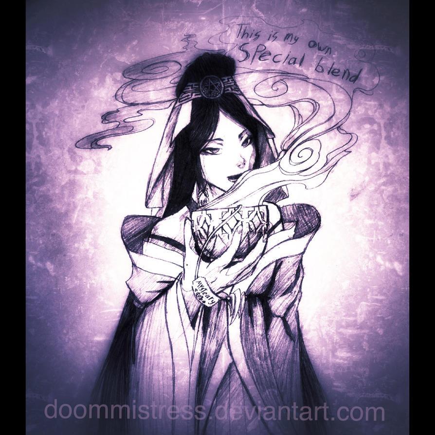 Day 24 tea witch by DoomMistress