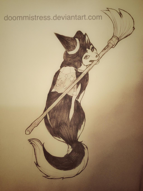 Day 26 Animal witch by DoomMistress