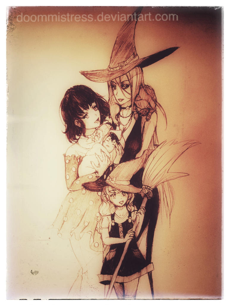 Day 30 a witch family by DoomMistress