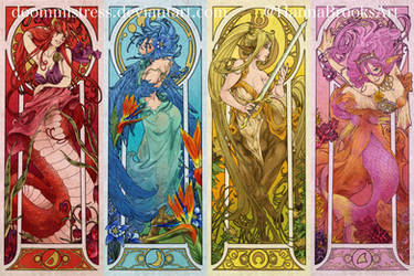 Monster musume - Art nouveau - 1 by DoomMistress