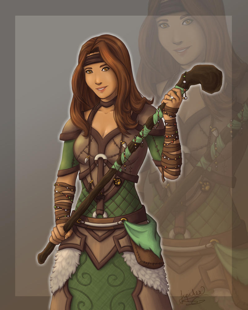 Commision #2 Gilnean druid by Jupiter-SG