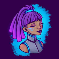 Cyberpunk Lady
