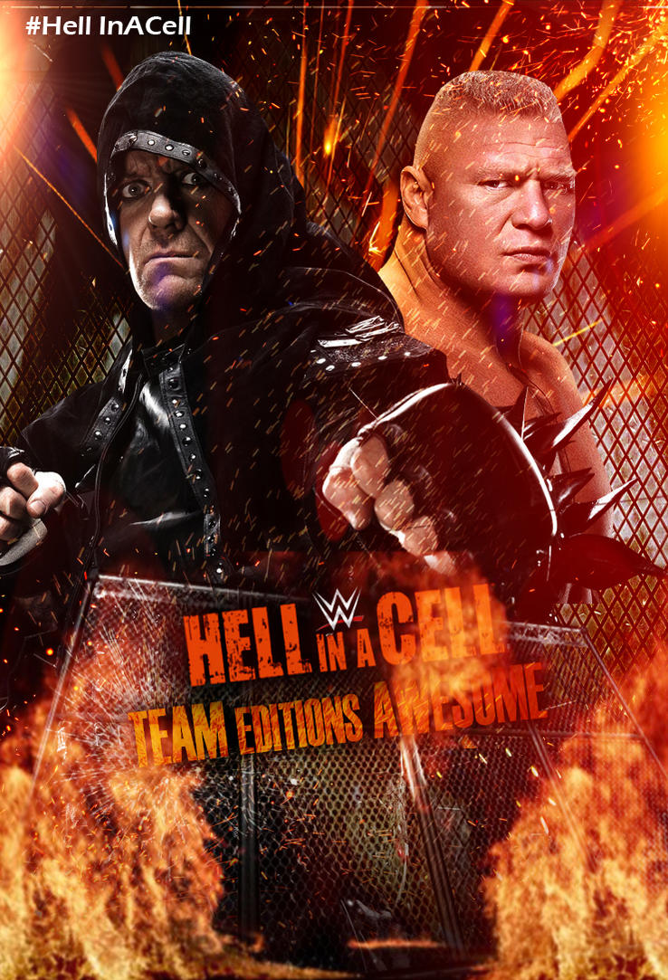Hell In A Cell 2015 Official Poster by TobiasStriker
