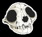 Cat skull pixel F2U!