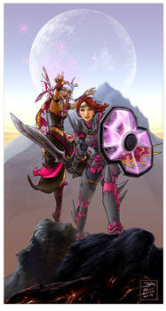 Gw fanart - warrior and necro
