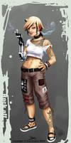Punk chick- Semie final design