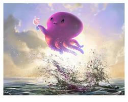 Cute little super octo by ElsaKroese