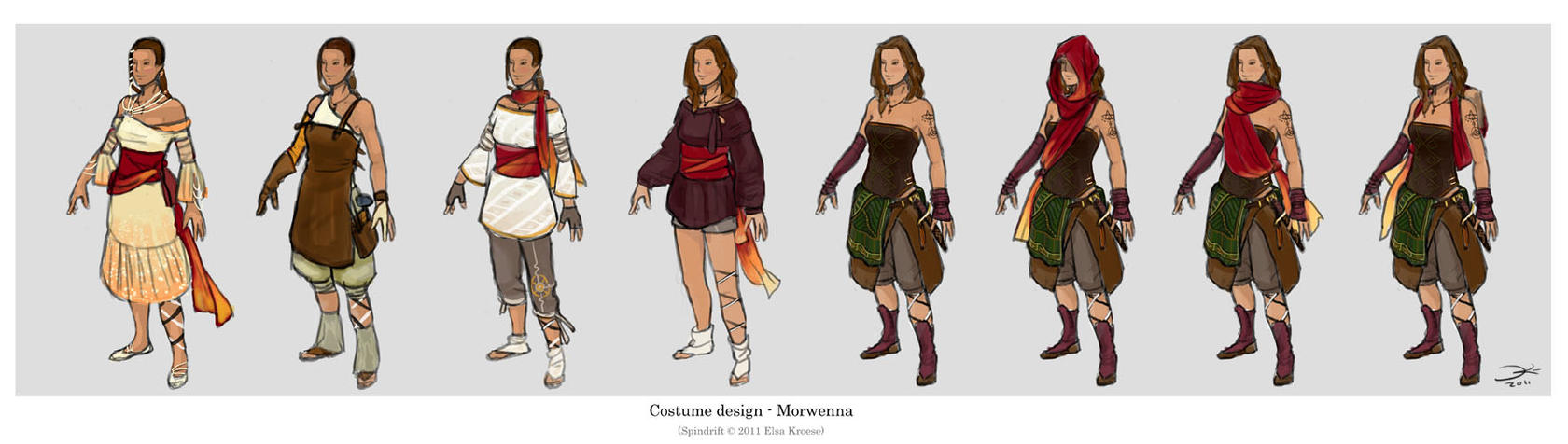 Spindrift - Costume designs1 by ElsaKroese