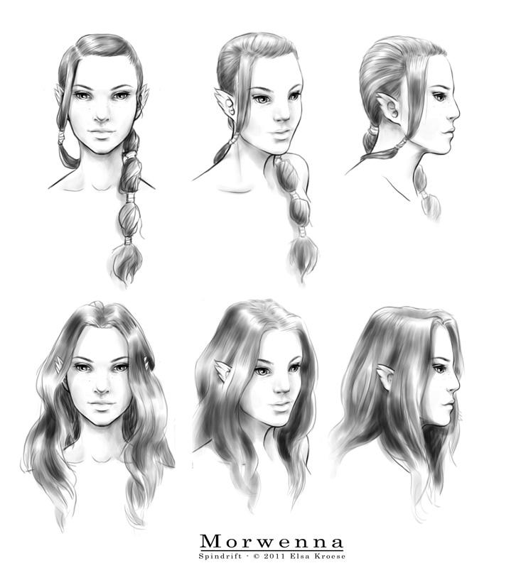 Spindrift - Morwenna studies by ElsaKroese