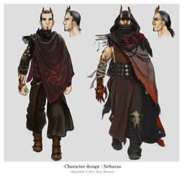 Character design - Neburas by ElsaKroese