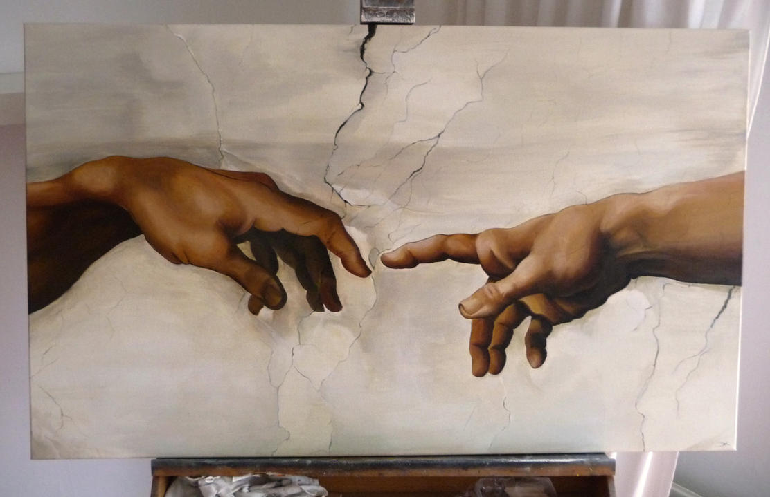 Creation of adam study by elsakroese on deviantart for Creation of adam mural