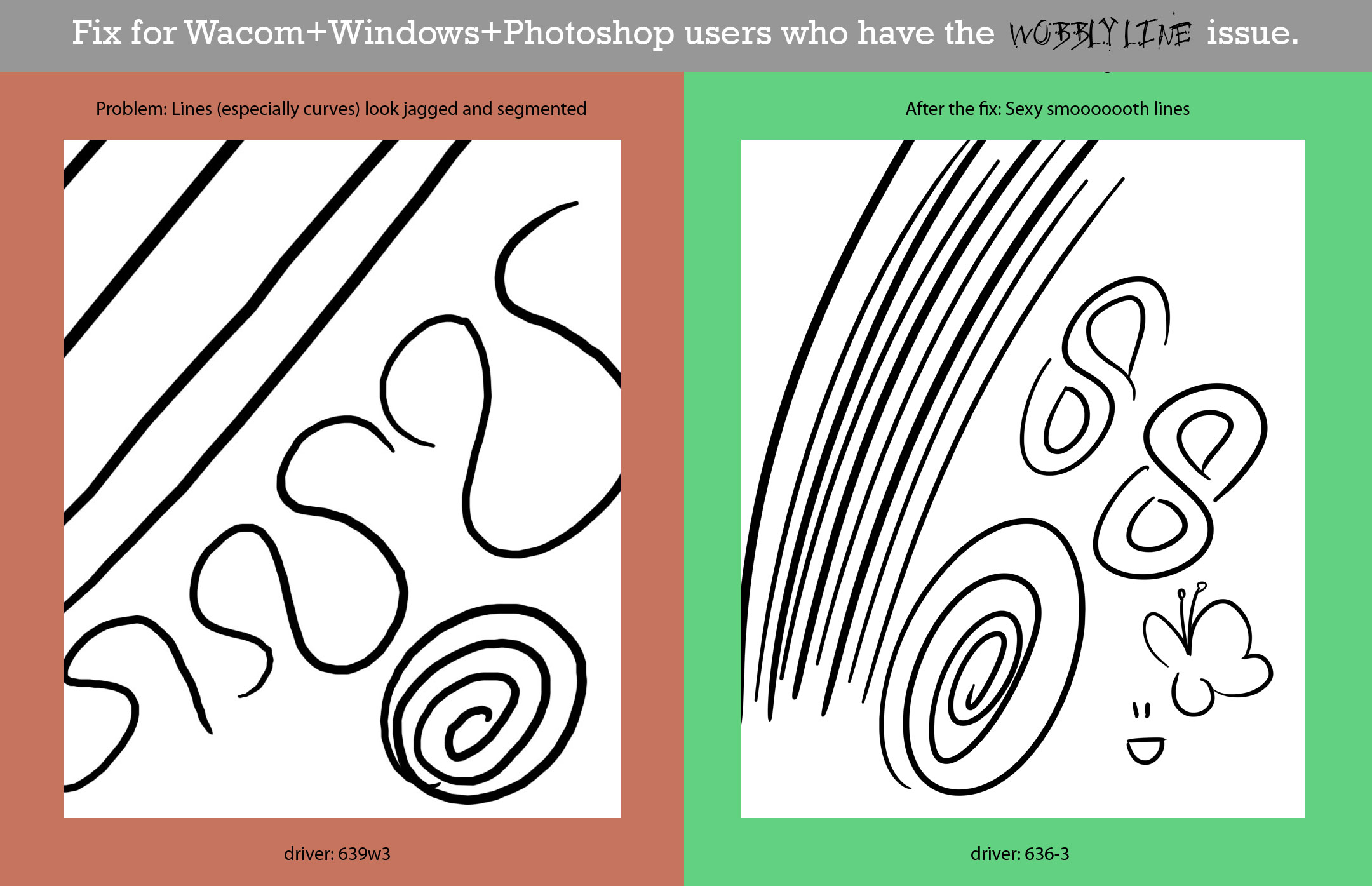 Color lineart in photoshop -  How To Fix Your Wacom S Wobbly Lines By Elsakroese