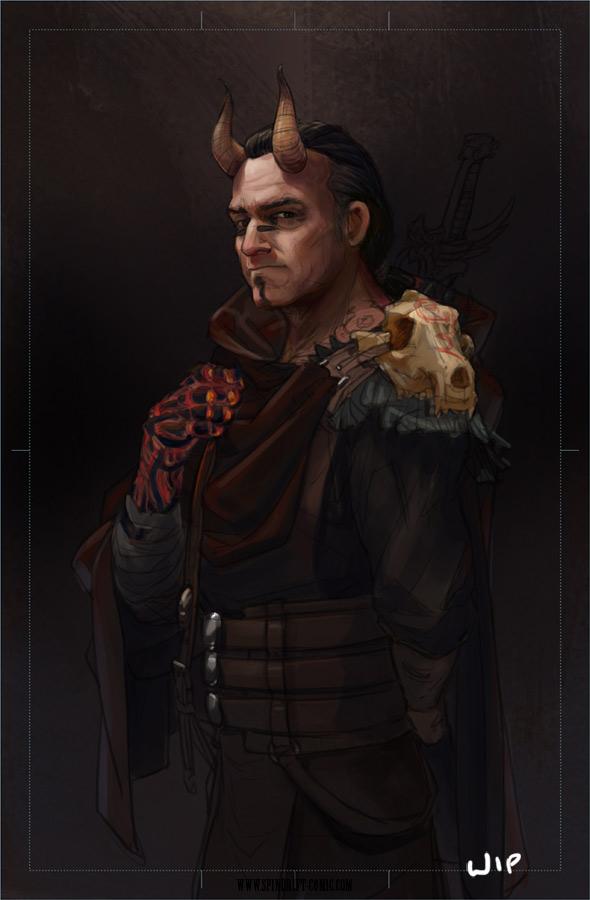 Neb portrait - work in progress by ElsaKroese