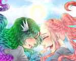 [BnHA] Floaty Girlfrienddssss