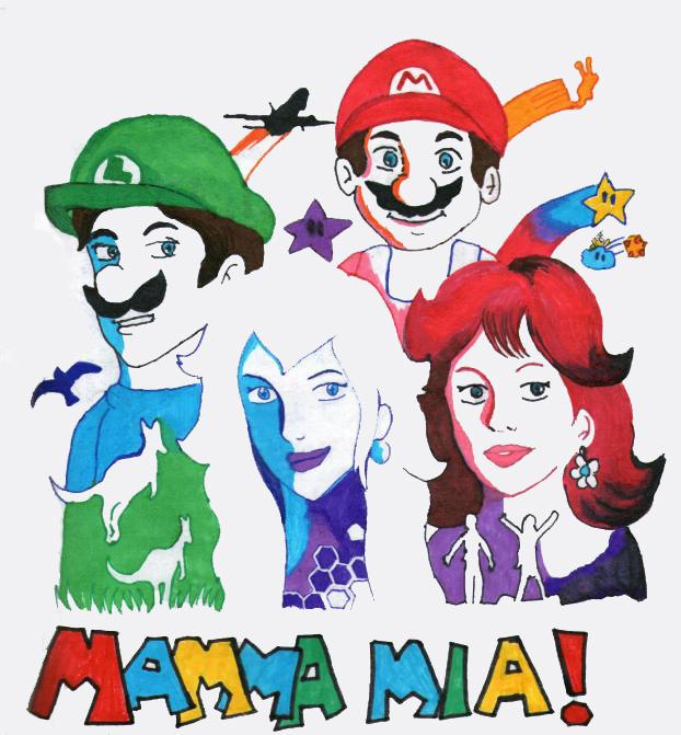 Mamma mia Mario- Abba style by chlorofilla