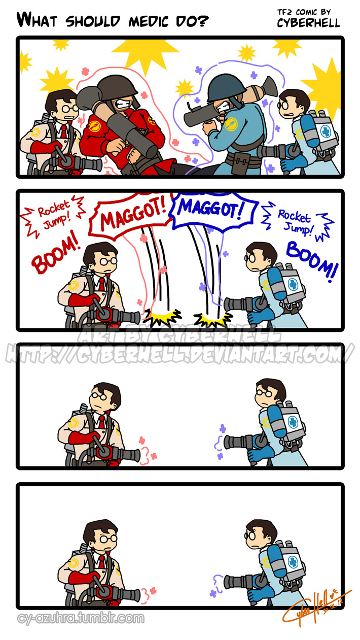 What should Medic do by cyberhell