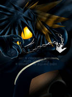 Commission -- KH2 Anti-Sora by cyberhell