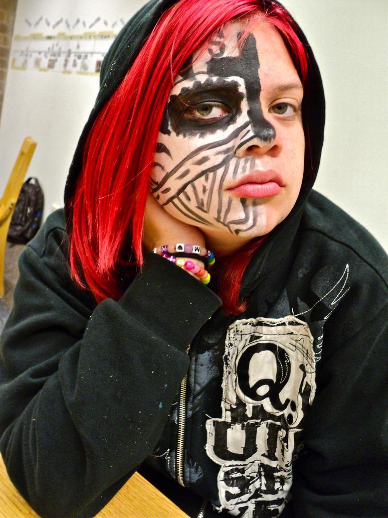 Tech N9ne Face paint by destinyrebel31 - 195.8KB