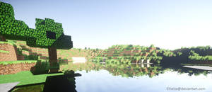 [Minecraft] Relaxing by the waters
