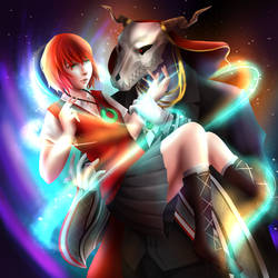 Chise and Elias by ellielza