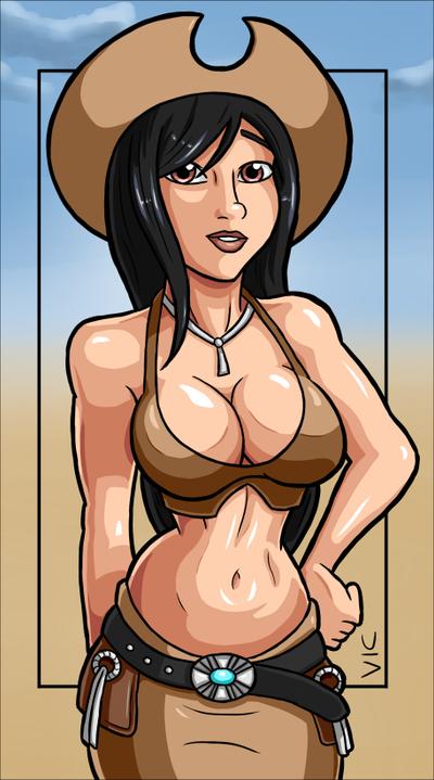 FFVII: Tifa - Cowgirl by Vicsor-S3