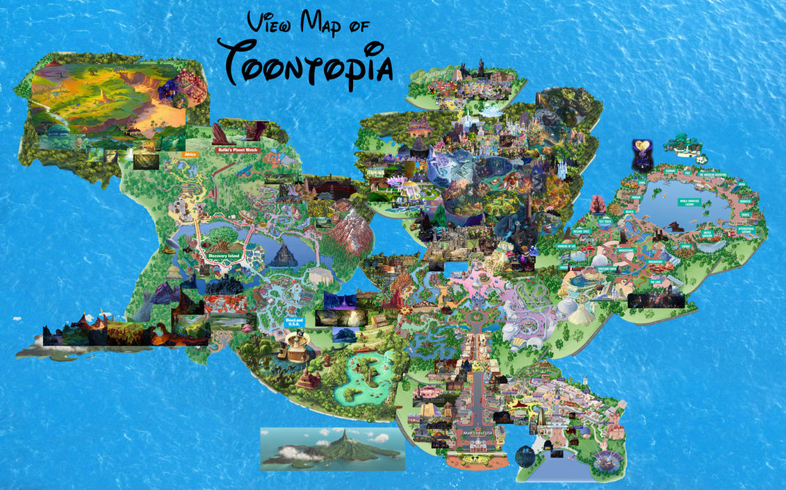 View Map Of Toontopia By Conthauberger On Deviantart