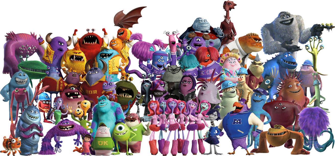 Characters of Monsters inc by conthauberger on DeviantArt