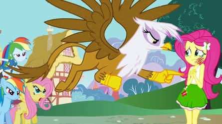 Gilda threatens human Fluttershy by conthauberger