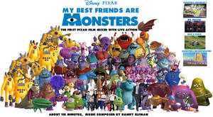 My Best Friends are Monsters Splashpaper by conthauberger