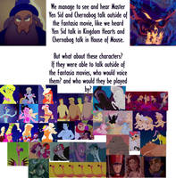 Who could voice the Fantasia characters by conthauberger